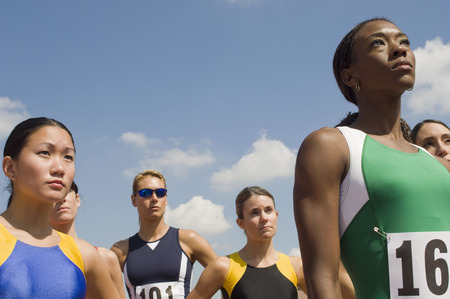 Group of female track athletes Stock Photo - 5475994
