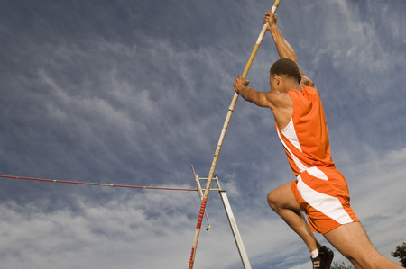 vaulted: Pole vaulted taking off
