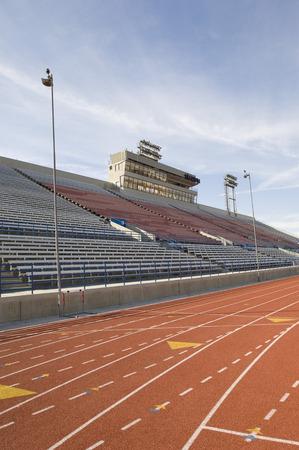 grandstand: Empty Running Track and Grandstand LANG_EVOIMAGES