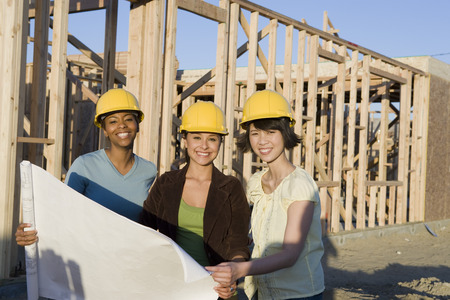 Young women in construction site Stock Photo - 5476211