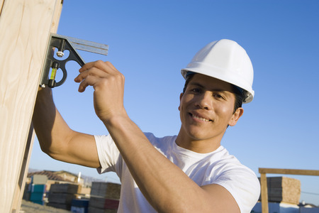 Man working in construction site Stock Photo - 5476216
