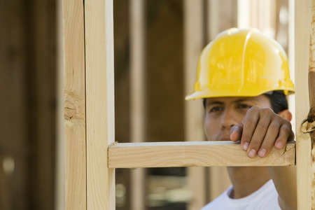 Worker in construction site Stock Photo - 5476237