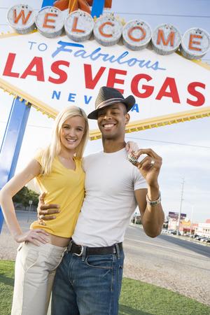 Couple having fun in Las Vegas, Nevada, USA Stock Photo - 5476340