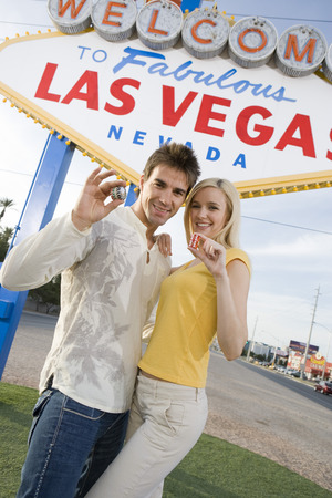 Couple having fun in Las Vegas, Nevada, USA Stock Photo - 5476341