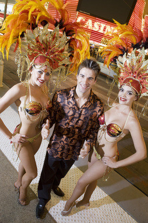 Man and female dancers having fun Stock Photo - 5476358