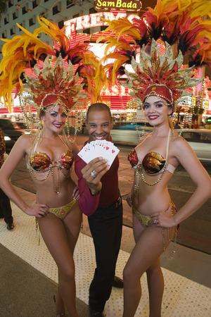 Man and female dancers having fun Stock Photo - 5476359