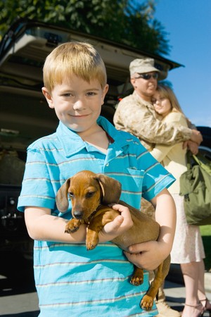 pet photography: Military Family