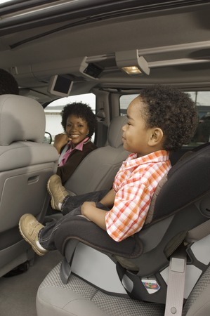 Boy Sitting in Car Seat Stock Photo - 5476434