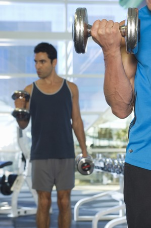 Men Weightlifting With Dumbbells Stock Photo - 5478246