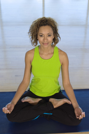 woman meditating: Woman Meditating