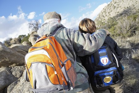 Couple Hiking Together Stock Photo - 5478317