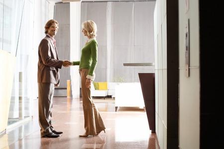 polite: Businesspeople Shaking Hands LANG_EVOIMAGES