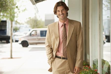 Businessman on Street Stock Photo - 5478475