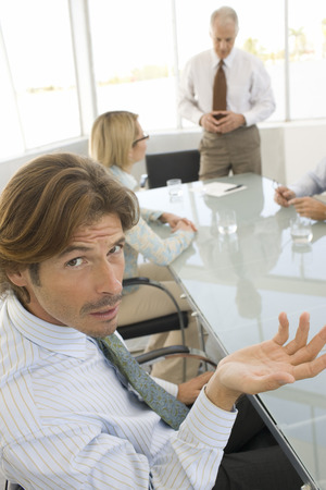 Business man in conference meeting Stock Photo - 5478518