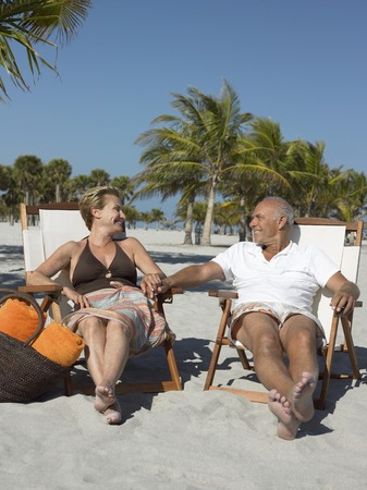 Older Couple on Beach Stock Photo - 5478613