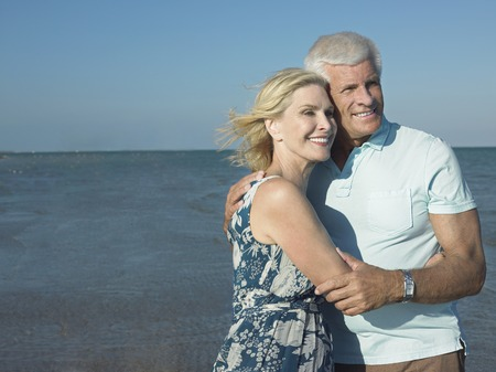 late sixties: Older Couple on Beach