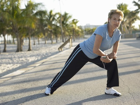 beforehand: Older Woman Stretching