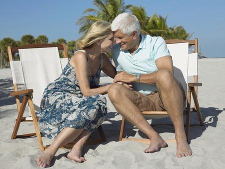 Older Couple on Beach Stock Photo - 5478621