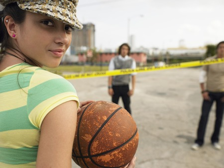 Young Woman with Basketball Stock Photo - 5487409