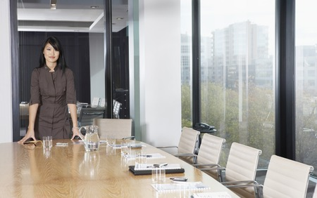 Businesswoman Standing in Conference Room Stock Photo - 5436063