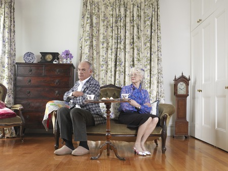 Senior Couple Having a Spat Stock Photo - 5436084