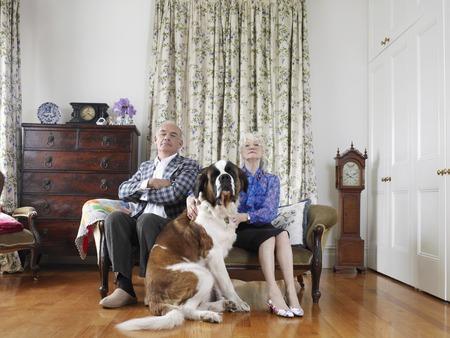 Senior Couple with Their Dog Stock Photo - 5436085