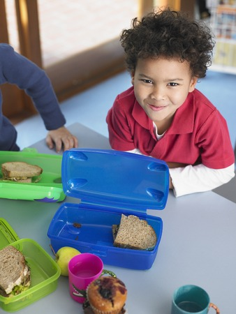 School Boy Having Lunch Stock Photo - 5487585
