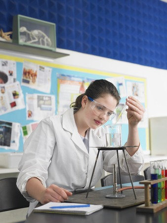 High School Student in Chemistry Class Stock Photo - 5487587