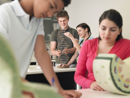 Teenagers in Science Class Stock Photo - 5487618