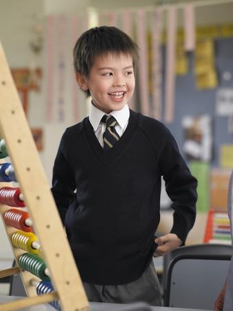 abacus: Smiling Schoolboy