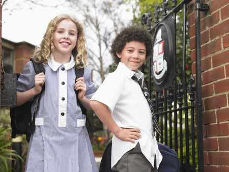 Friends Ready for School Stock Photo - 5487631