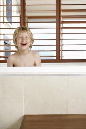 Boy in a Bathtub Stock Photo - 5487653