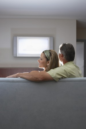 Couple Watching TV Stock Photo - 5487657