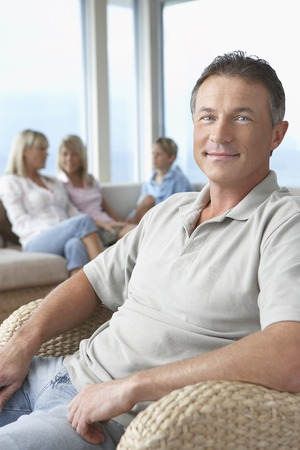 Man with Family Stock Photo - 5487667