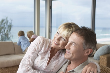 Couple on Vacation with Children Stock Photo - 5487668