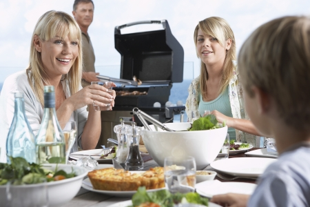 Family Having Barbecue Stock Photo - 5487675
