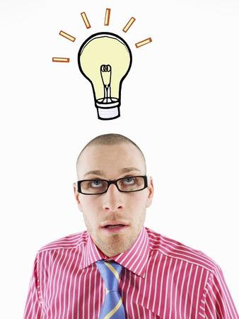 Businessman idée ayant Banque d'images - 5487699