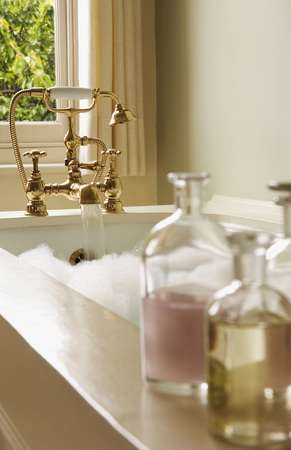 domesticity: Bottles of Bath Oils by Bubble Bath