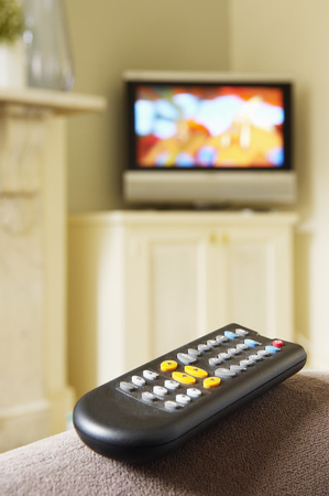 Remote Control and Flat-Screen Television