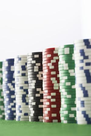 Stacks of Gambling Chips Stock Photo - 5487758