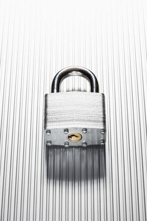 locking up: Padlock