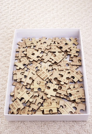 International Business Jigsaw Puzzle Archivio Fotografico - 5487790