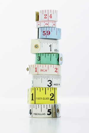 Rouleaux de ruban de mesure Banque d'images - 5487797