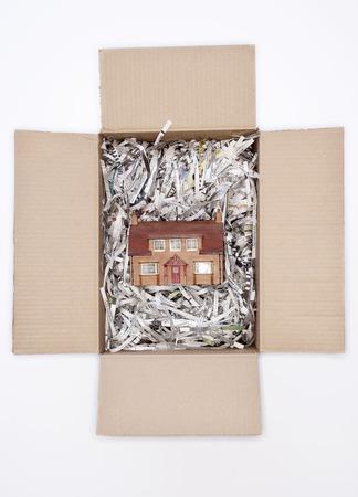 Casa in scatola di cartone Archivio Fotografico - 5487804