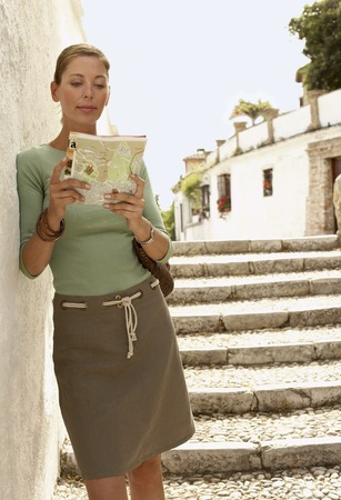 early forties: Tourist Reading Map