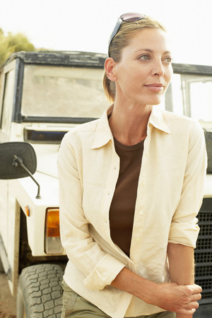 fortysomething: Woman and Land Rover