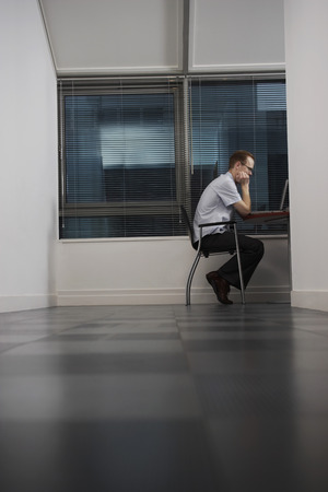 no kw 1: Office Worker Using Computer