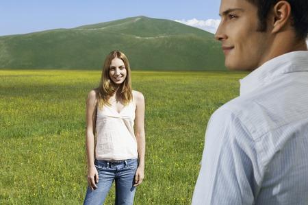 early twenties: Couple in a Meadow