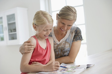helpfulness: Mother and Daughter Coloring