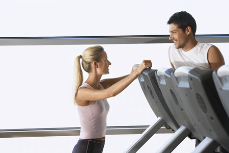 late 30s: People Flirting at the Gym